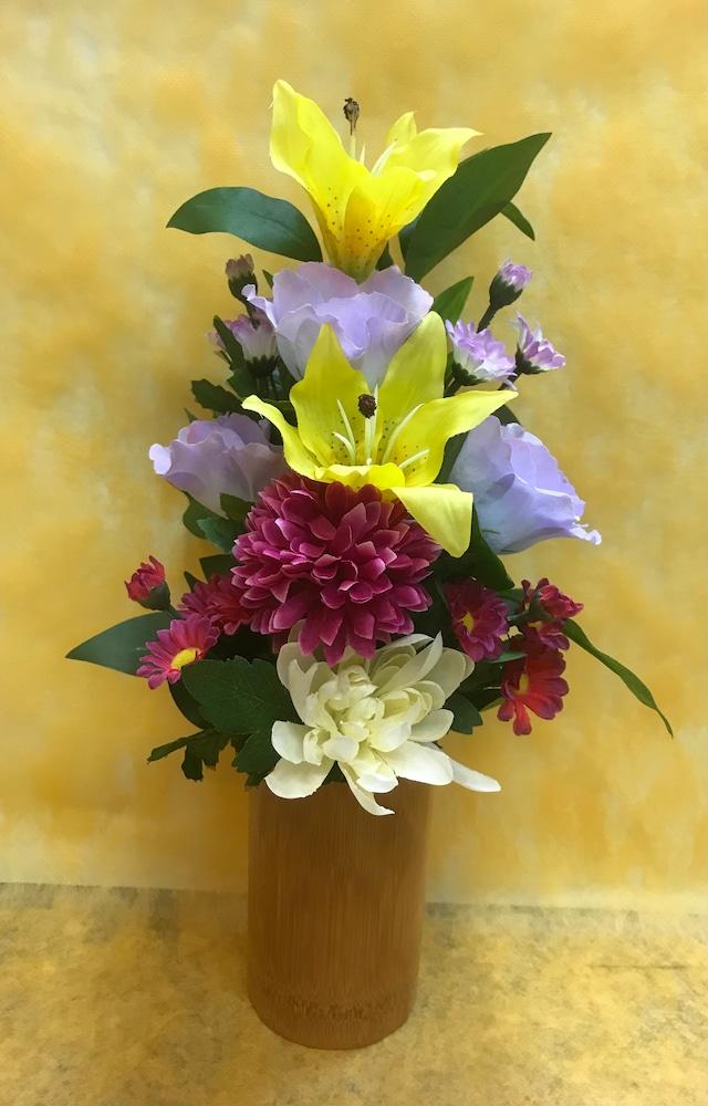 アーティフィシャルフラワー仏花(百合黄)