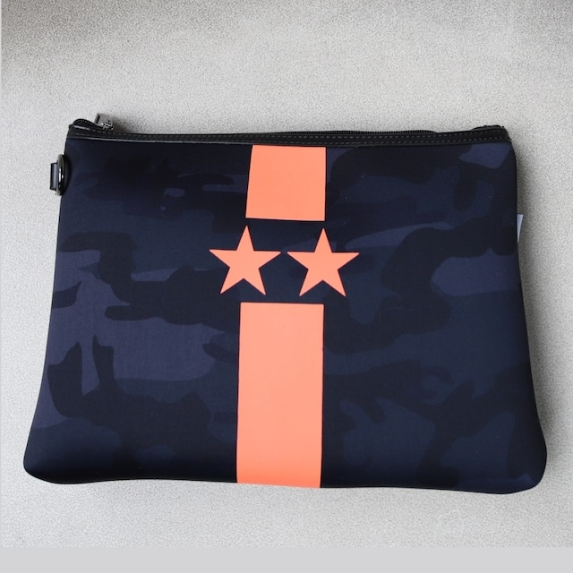 NEON Color orange clutch