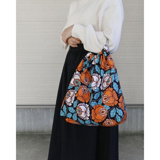 アフリカ布のリングハンドルバッグ|カンガ / アフリカンプリント
