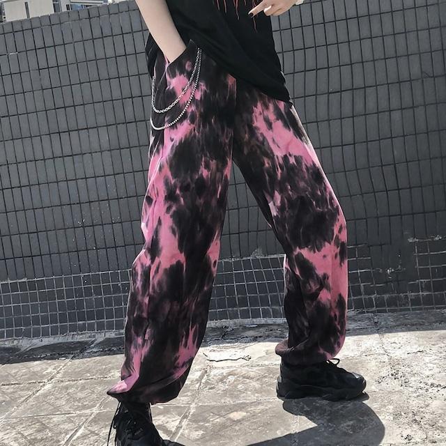 細コーデュロイタイダイパンツ(全2色) / HWG342