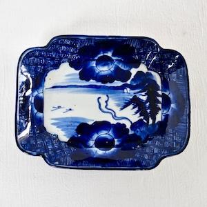 【30315】伊万里染付 角大皿/ Imari Blue Plate