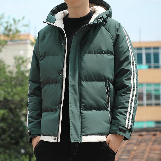 【メンズファッション】人気を獲得 メンズ シンプル ジッパー 長袖 無地 フード付き コート53914800