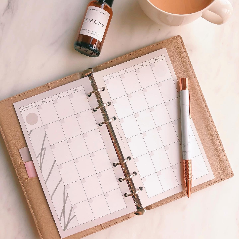 カレンダー / バイブル / くすみモノトーン(システム手帳リフィル)