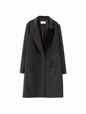 Coat2  / medium grey ×black / W15CO02