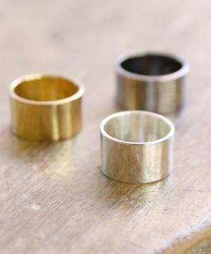 YR180327KHR1【YArKA/ヤーカ】silver925 11mm plane ring [pwo]/シルバー925 11ミリプレーンリング
