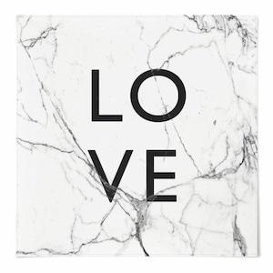 love marble fabric poster 3size / マーブル ファブリックポスター