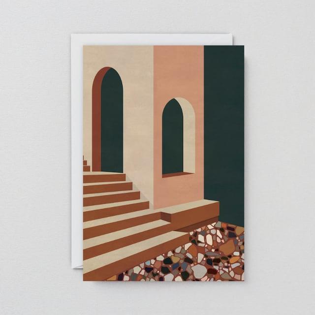 WRAP / TERRACOTTA TERRAZZO ART CARD -Artwork by Charlotte Taylor-