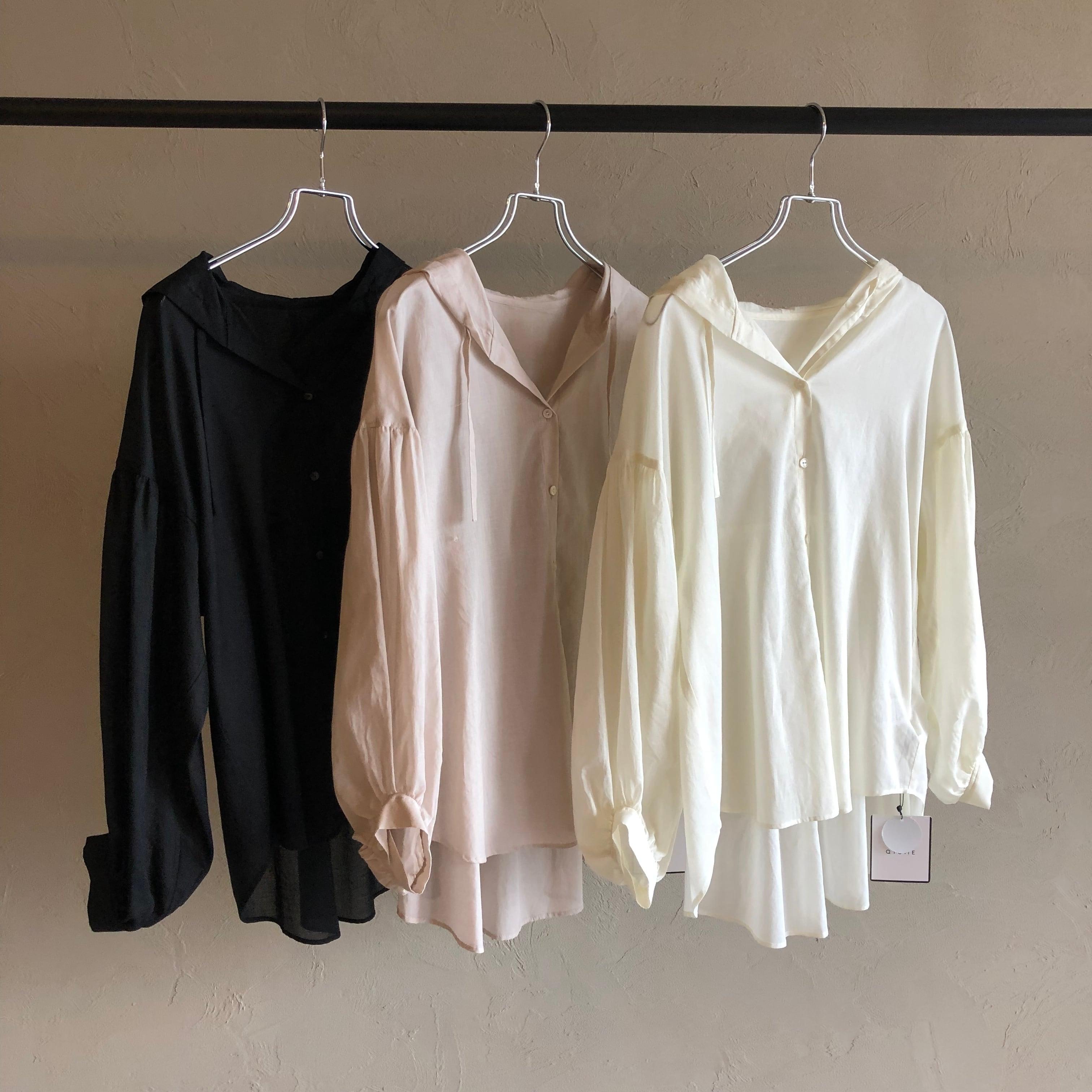 【 QTUME 】- 110-24040 - パーカーライクシャツ