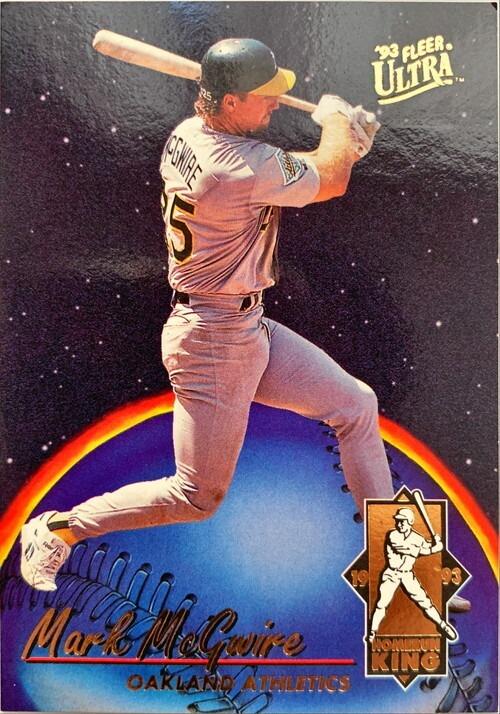 MLBカード 93FLEER Mark McGwire HOMERUNKING #002 ATHLETICS
