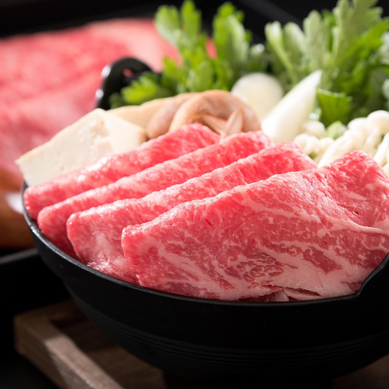 【伝統の枯らし熟成品】若狭ナカノ牛 赤身すき焼きセット 300g