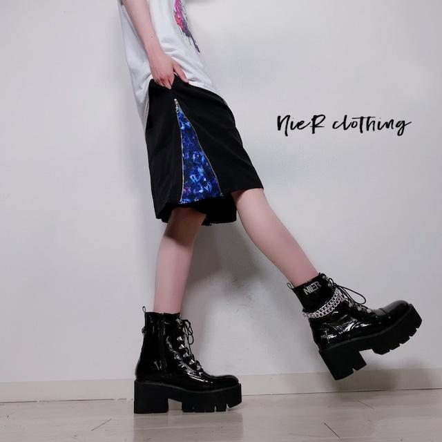 SIDE ZIP HALF PANTS【BLUEBERRY】