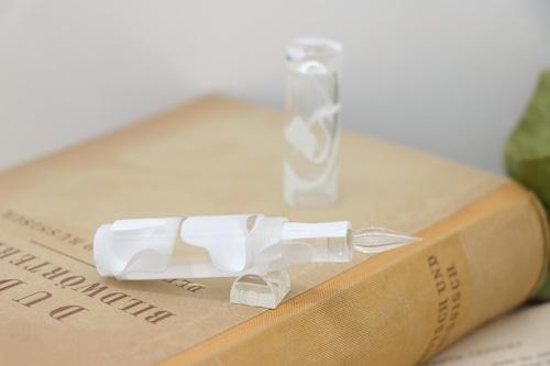 受注制作「Lapis mini・ホーリーウォーター」Viriditas手作りキャップ付きガラスペン