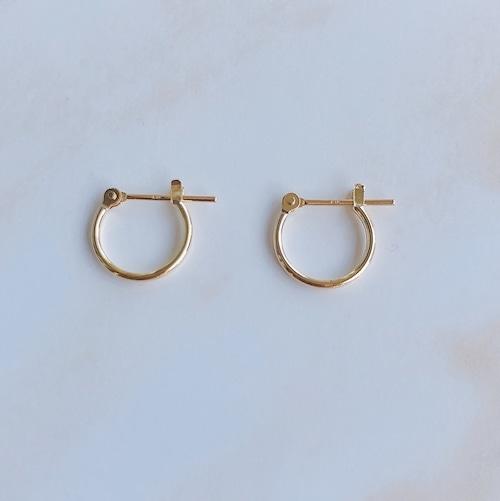 18K Classic hoop pierce / 10