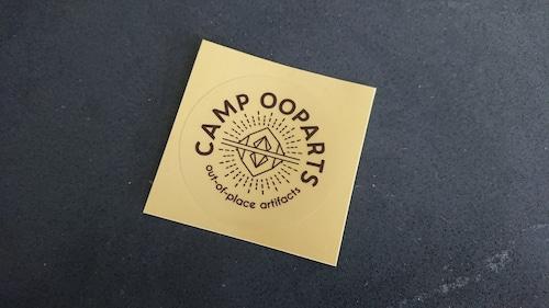 CAMPOOPARTSステッカー50mm(透明シートにブラック印刷) 一枚
