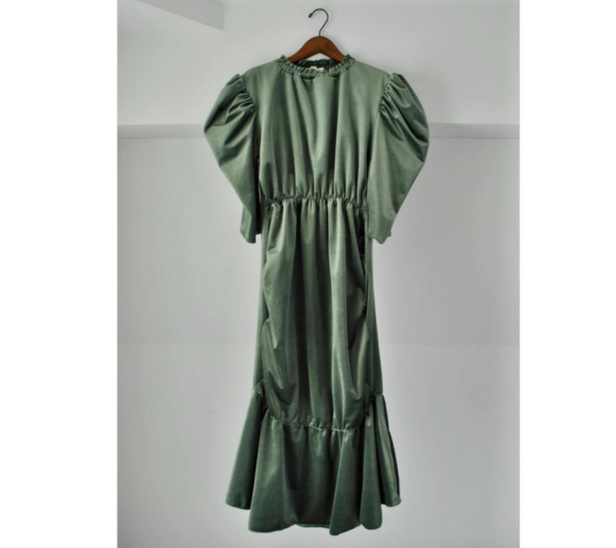 【 HOUGA 】ホウガ / blossom dress / green / partydress