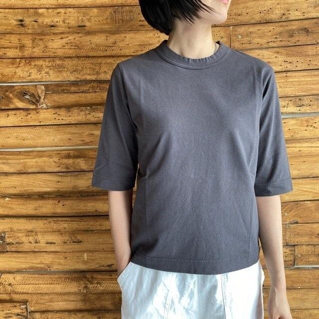 homspun (ホームスパン) 天竺6分袖Tシャツ グレー