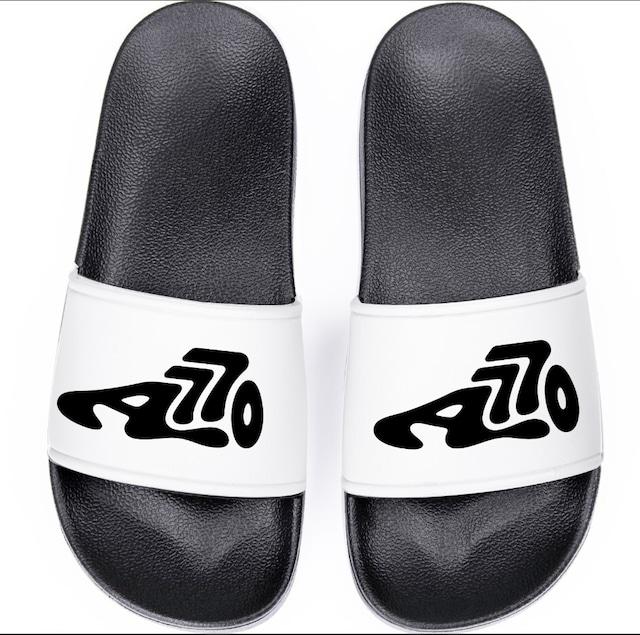 Logo Shower Sandals / White
