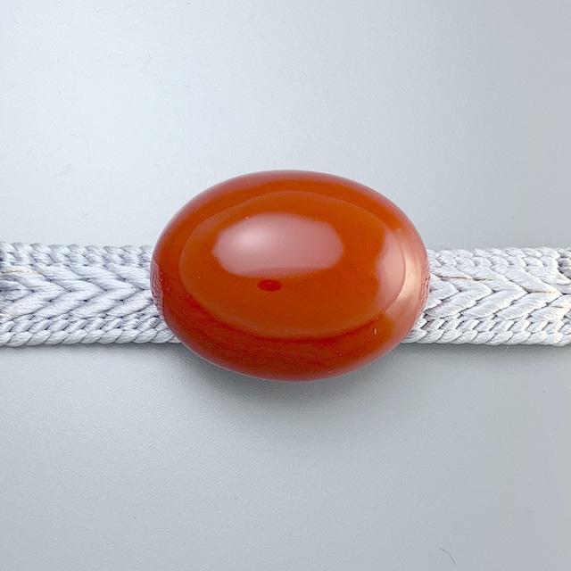 帯留め 朱漆 楕円形 赤 漆帯留 : 帯留 和装 帯飾り 金沢漆器 伝統工芸 着物 和装小物