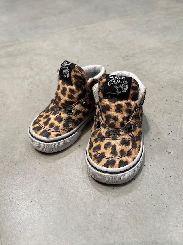 (KD098) 13cm VANS HALF CAB leopard sneaker