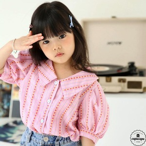 «sold out»«ジュニアサイズ» bubble kiss bongbong blouse ボンボンブラウス