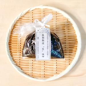 """【長期熟成生味噌】-炒め物や合わせ味噌でお味噌汁へ・くせになる酸味とまろやかさ- """"袋入り500g""""│オーガニック 味噌 発酵食品 有機 調味料"""