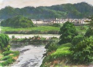 水彩#5「多摩川より6月」B5