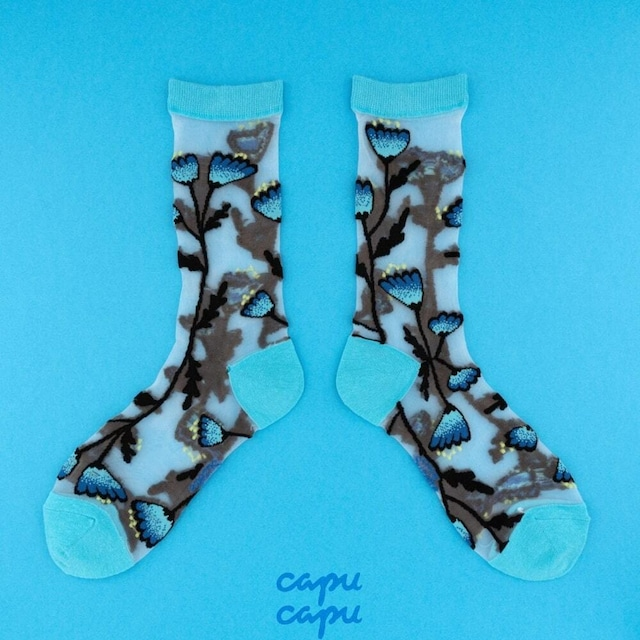 Coucou Suzette Blue Bell Sheer Socks