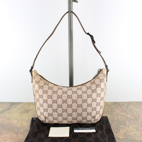 .GUCCI GG PATTERNED SEMI SHOULDER BAG MADE IN ITALY/グッチGG柄セミショルダーバッグ2000000056715