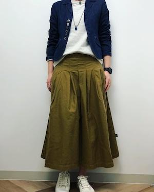 【ONEWASH】ロングタックスカート(モカ)