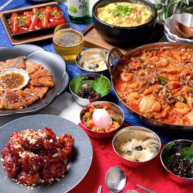 2021.04 韓国料理レッスン全8品 献立まとめ