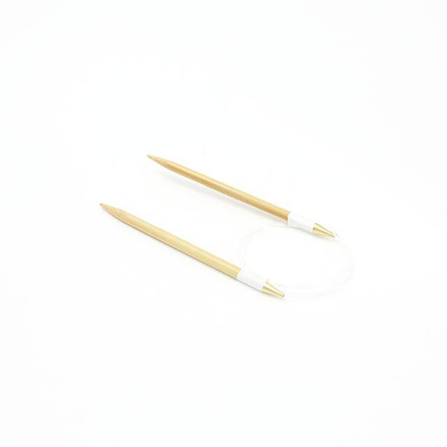 【竹製硬質】輪針 (コード長さ40cm 12号-15号)