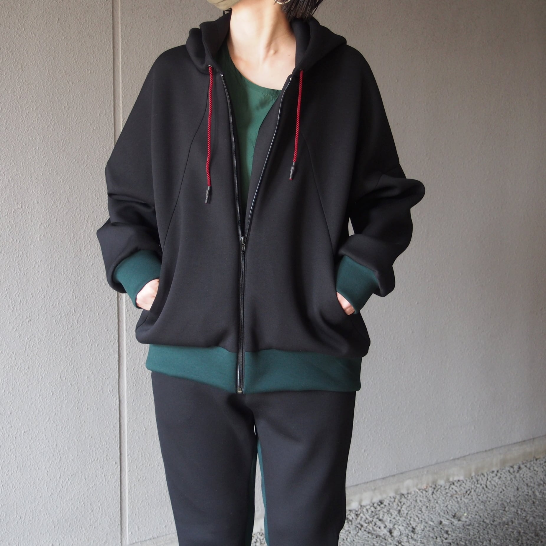 【hippiness】cutting parka(black)/【ヒッピネス】カッティングパーカー(ブラック)