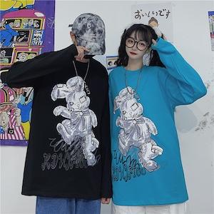【トップス】プリントカートゥーンファッションbf 韓国系Tシャツ42908966
