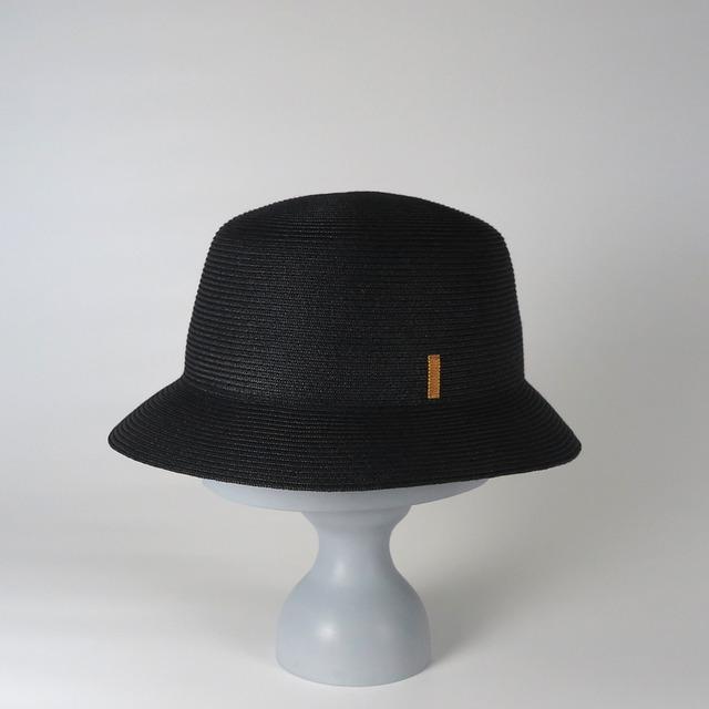 SS20-BD-5 Paper Braid Bucket Hat BLK/NAG