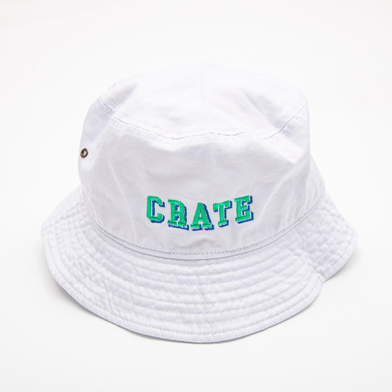 BLOCK LOGO BUCKET HAT WHITE