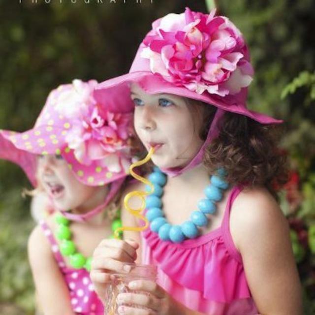 USAサイズ2歳~4歳【JamieRaeHats ジェイミーレイハット】111<サンハット>ラズベリー/ピンクラズベリーしゃくやく