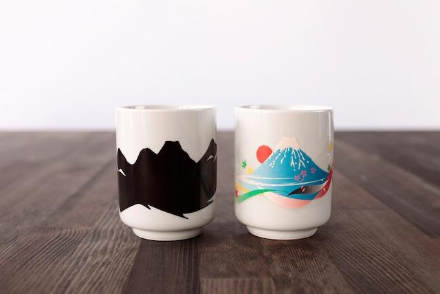 『3J028-15B』『温感湯呑』『富士山』 *父の日 日本 お茶 演出 インスタ映え 感動 茶 贈り物 誕生日 プレゼント