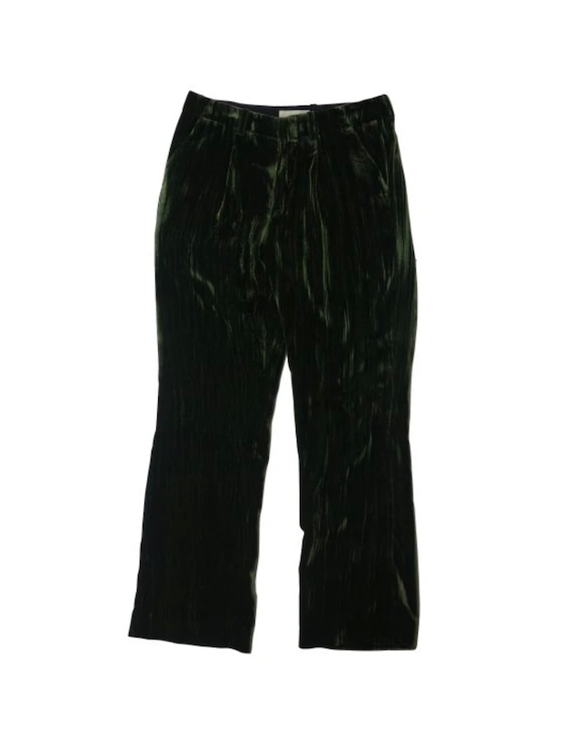 【JieDa】WRINKLE VELVET STRAIGHT PANTS