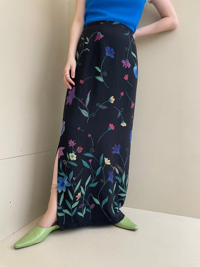 floral skirt / 7SSSK31-03