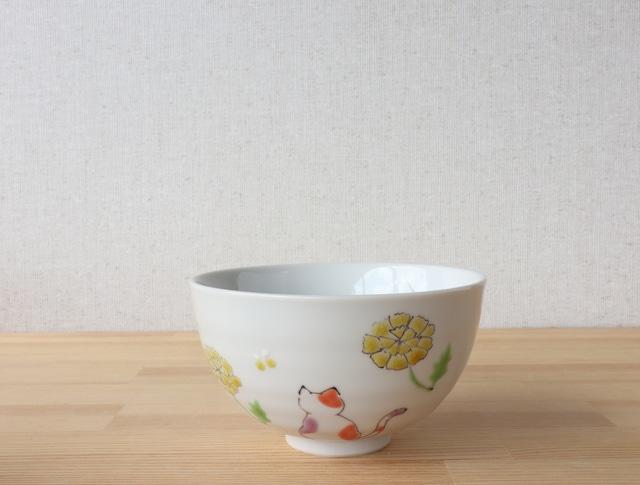 三毛猫みーちゃん ごはん(春) 茶碗(工房直売価格)