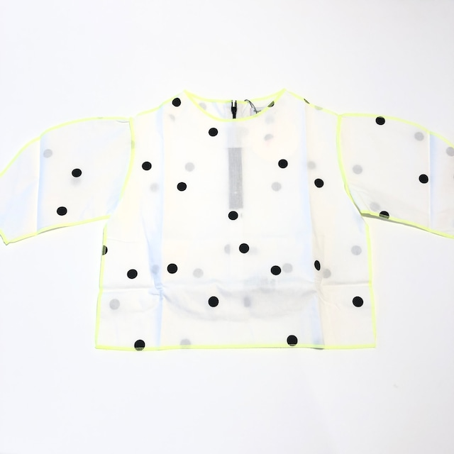 【21AW】フランキーグロウ ( frankygrow )CIRCLE FORM TOPS[ S / M / L ]white*blackdotsトップス シャツ