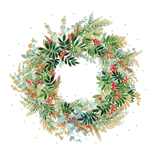 【Paperproducts Design】バラ売り2枚 ランチサイズ ペーパーナプキン Christmas Hill Wreath ホワイト