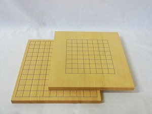 碁盤 新かや 5号 9路13路接合両面盤(表13路盤、裏9路盤)