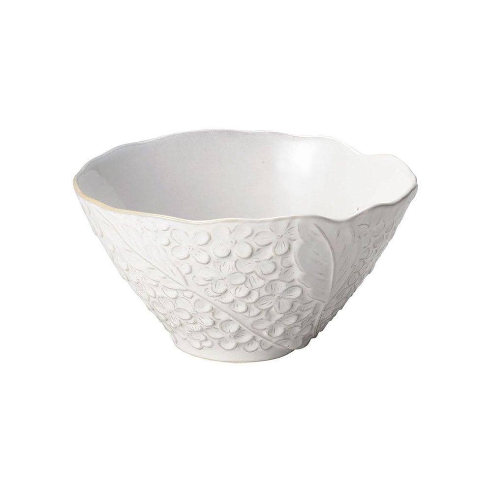 aito製作所 「リアン Lien」サラダ&フルーツボウル 皿 約18cm L ホワイト 美濃焼 267821