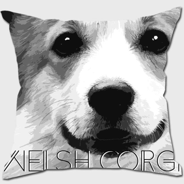 ウェルシュコーギー 【IMPACT -shirokuro- 犬 クッション】
