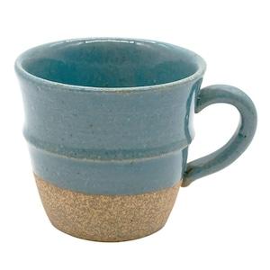 萬古焼 藍窯 ステップマグカップ 220ml 「エスタ Esta」 赤土ブルー AGM-200103