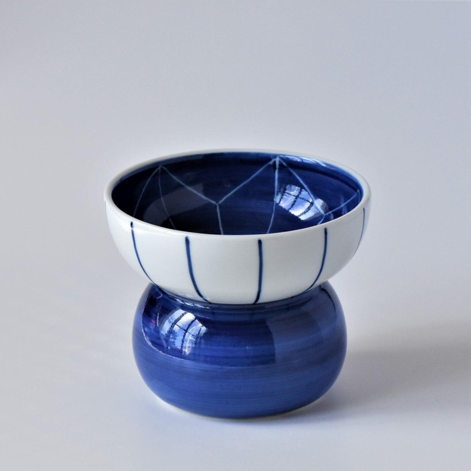 有田焼【まどか】 ハイタイプ(フード用) 麻の葉 製造:江口製陶所