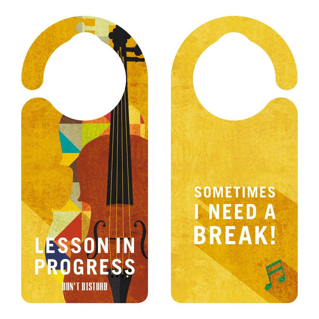 LESSON IN PROGRESS 練習中 バイオリン[1136] 【全国送料無料】 ドアサイン ドアノブプレート