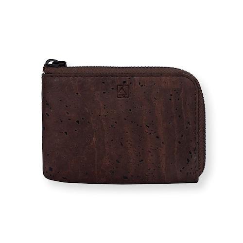VEGAN COIN CASE - BROWN / コインケース 茶 コルク製 ビーガン 一年保証