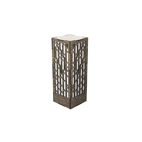 ミニ行灯 竹 - 置き型照明 Mサイズ ウォルナット